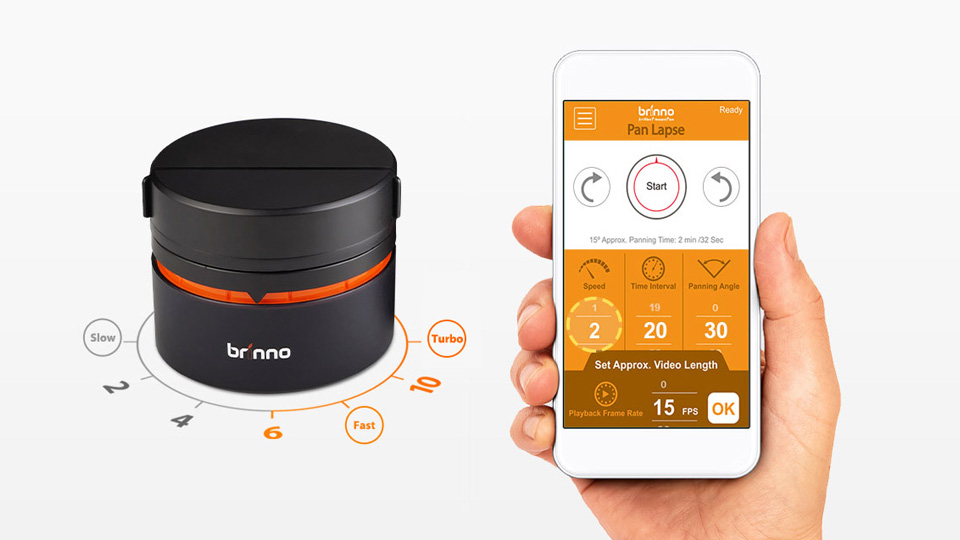 Brinno pan lapse bluetooth rotating camera stand art200 panning speed ccuart Images