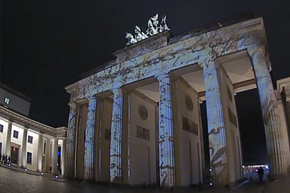 Brandenburg Gate Berlin Videomapping Festival of Lights