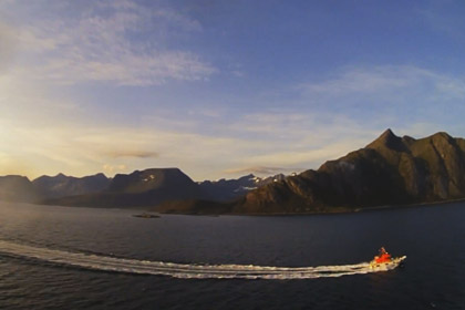 Cruising Time Lapse on Tromso, Norway