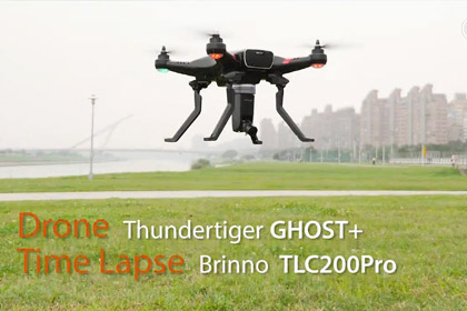 Brinno Time Lapse test from Drone (Thundertiger GHOST+)